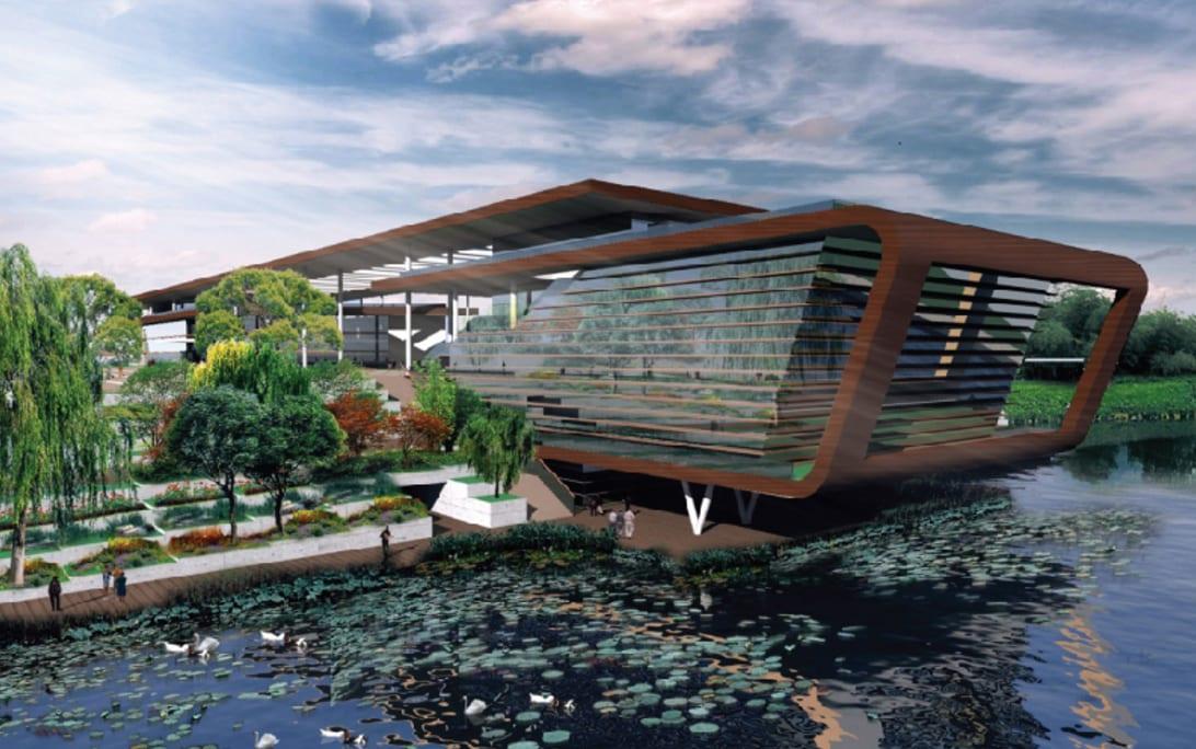 Türkiye Milli Botanik Bahçesi Giriş ve Karşılama Merkezi Binası